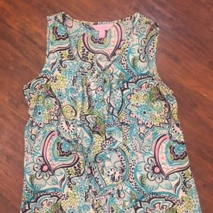 Lilly Pulitzer Paisley Silk Blouse